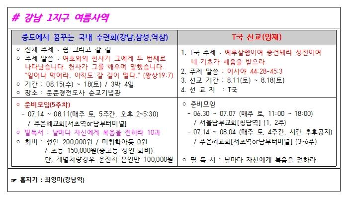 강남 1지구 메인화면